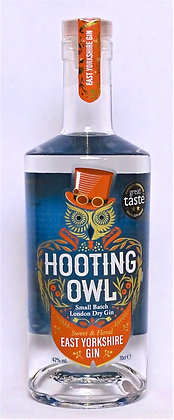 Hooting Owl - East Yorkshire Gin: 50cl, 20cl and 5cl bottles.