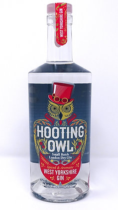 Hooting Owl - West Yorkshire Gin: 50cl, 20cl and 5cl bottles.