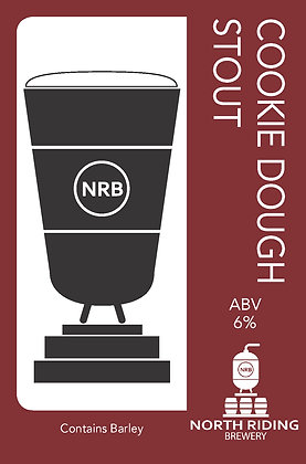 North Riding Brewery - Cookie Dough Stout. 6%