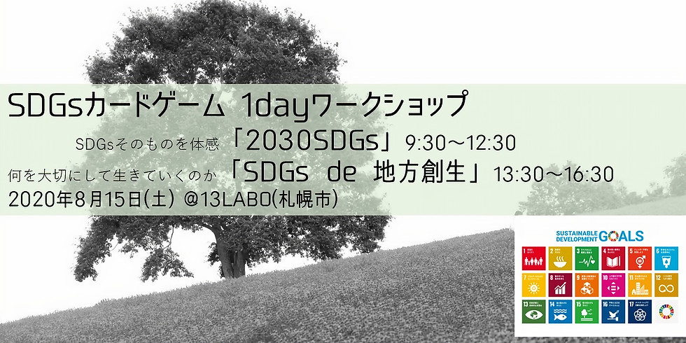 【終了】8/15・札幌 SDGsカードゲームワークショップ「2030SDGs」「SDGs de 地方創生」1day体験会