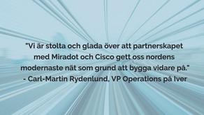 Miradot och Cisco levererar framtidens nätverk till Iver
