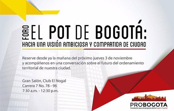 Se llevará a cabo el primer foro sobre el Plan de Ordenamiento Territorial de Bogotá