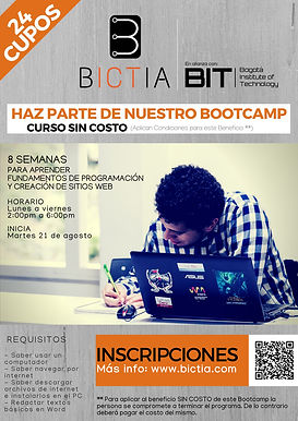 Nuevo Bootcamp de Programación en BICTIA