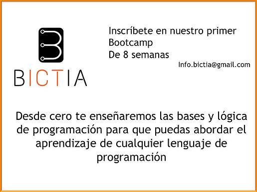 Inscríbase al primer curso de programación de BICTIA