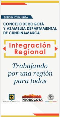 Concejo de Bogotá y Asamblea de Cundinamarca discutirán conjuntamente la Integración Regional