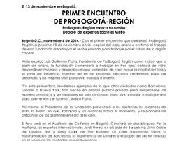 Primer Encuentro ProBogotá Región
