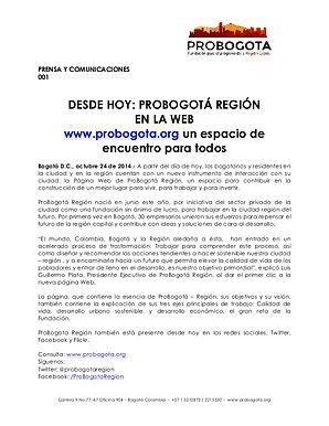 Desde: ProBogotá Región en la Web