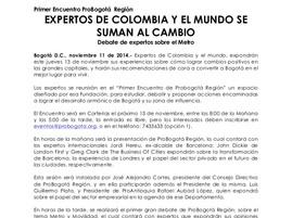 Expertos de Colombia y el Mundo se suman al Cambio