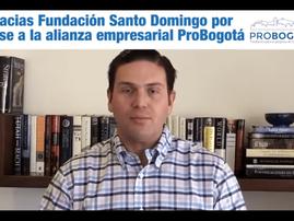 Gracias Fundación Santo Domingo por unirse a la Alianza Empresarial contra el Coronavirus