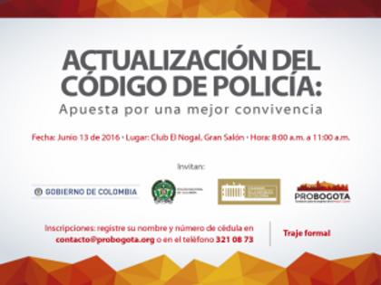 """Foro """"Actualización del Código de Policía: Apuesta por una mejor convivencia"""""""