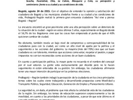 """""""Así vive y piensa Bogotá- Región"""", primera gran encuesta de ProBogotá"""