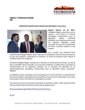 ProBogotá Región apoya movilidad sostenible / Fotonoticia