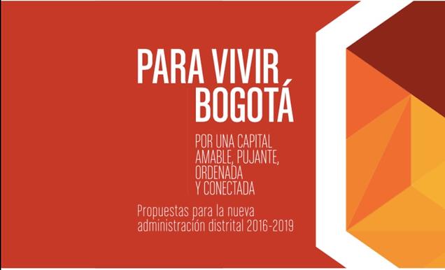 Libro 'Para Vivir Bogotá: Por una Capital Amable, Pujante, Ordenada y Conectada'