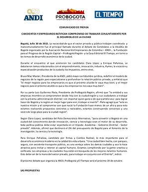 Candidatos y empresarios ratifican compromiso de trabajar conjuntamente por el desarrollo