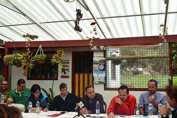 ProBogotá Región participó en la socialización del plan del desminado humanitario en Sumapaz