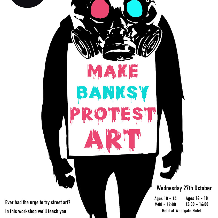 Make Banksy Protest Art (Adults)