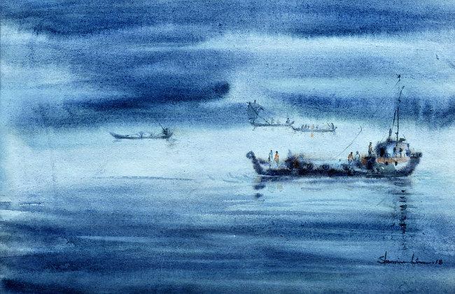 Boats in the Rain
