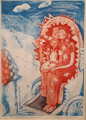 Madonna on the Rickshaw