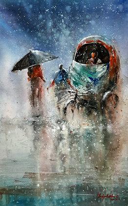 Raining Rickshaw