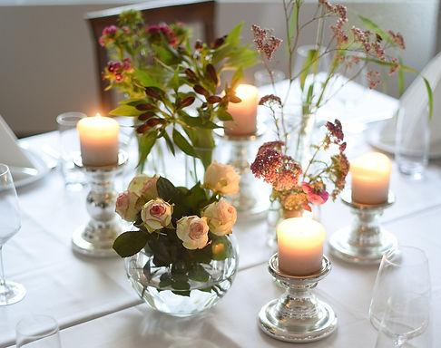 Tischdeko Hochzeit mit Kerzen