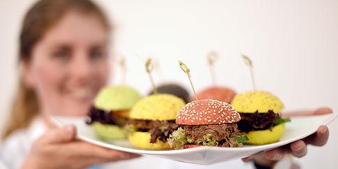 Bunte Mini-Burger