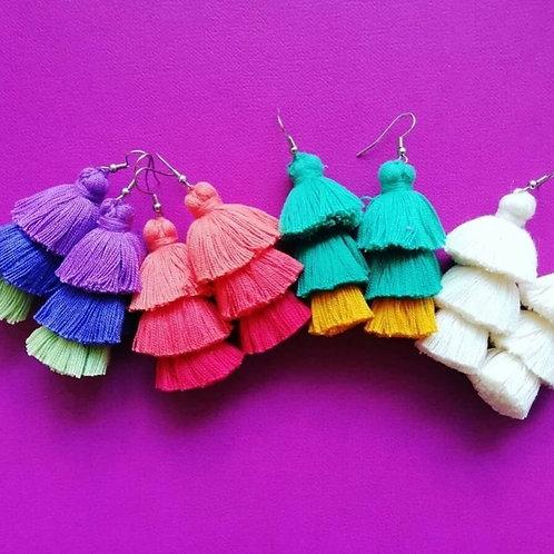 Carnaval Pom Earrings