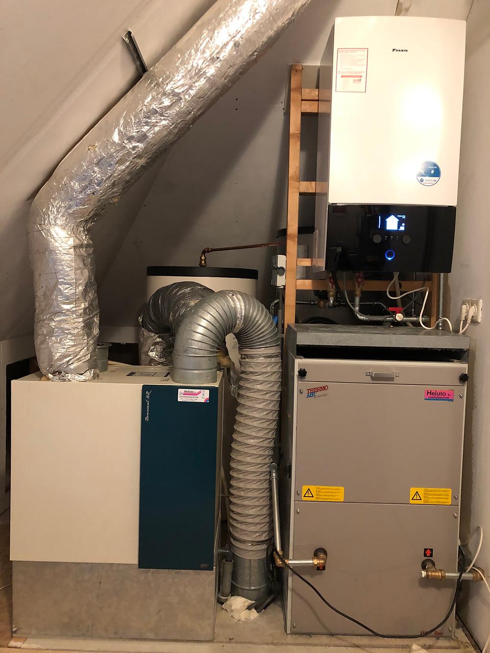 Warmtepomp op luchtverwarming