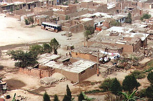 Squatter settlement Huaycan in Lima