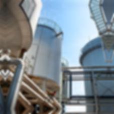 SBI-vergistingstorens voor de productie van groengas