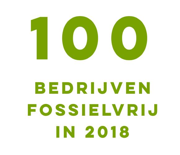 100 Bedrijven Fossielvrij in 2018