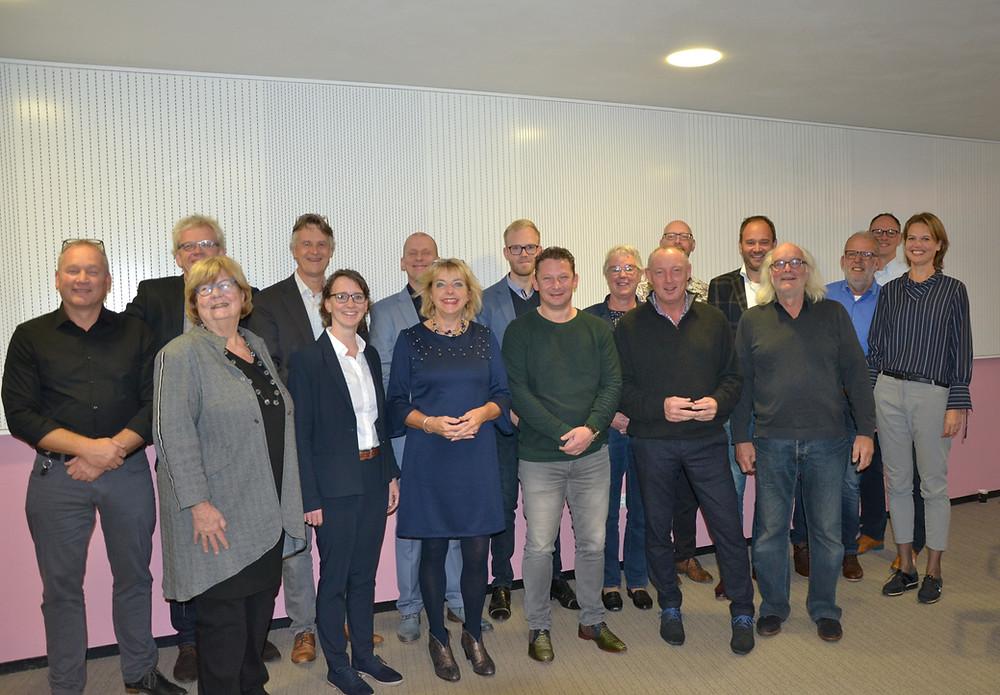 Deelnemers aan de tweede groep van het Koploperproject in Assen
