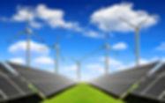 Duurzame energie, zonnepanelen, windmolens