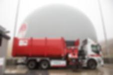 Vuilniswagen van Omrin op groengas