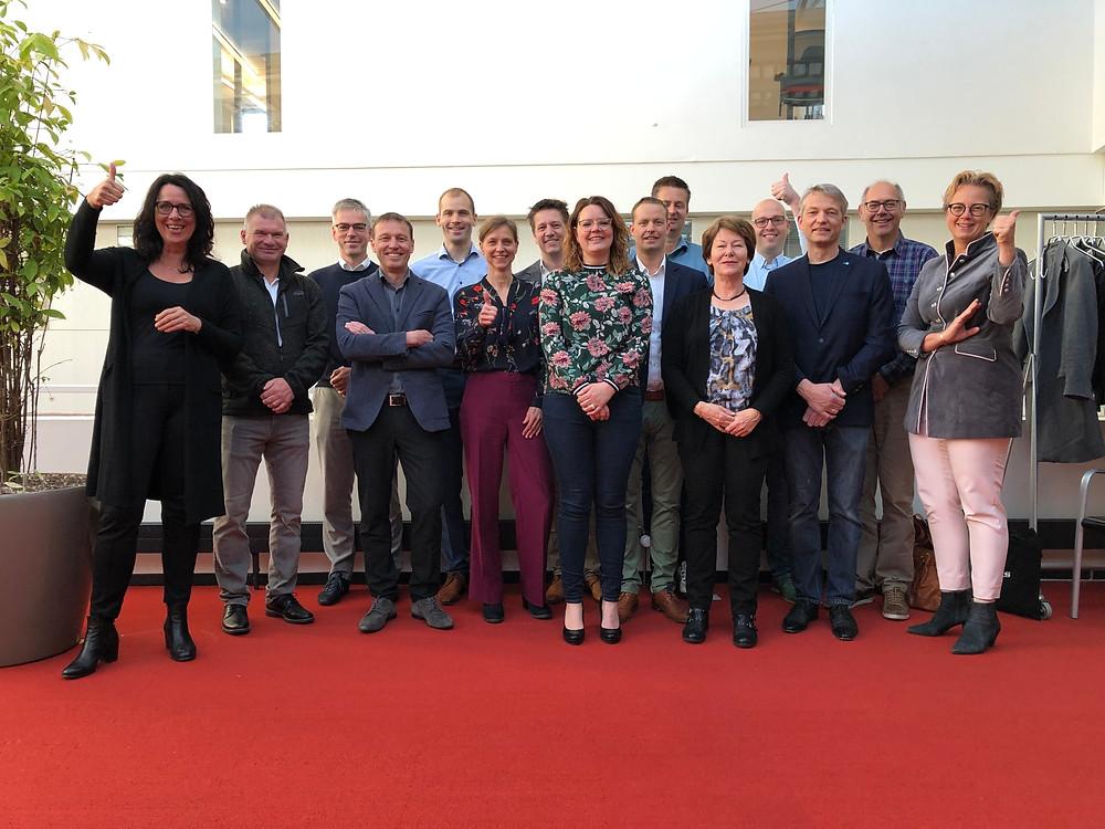 Derde groep Koplopers in Assen, met wethouder Karin Dekker (links)