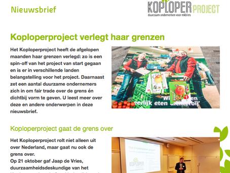 Nieuwsbrief Koploperproject november
