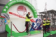 Opening groengas installatie door Prins Carlos