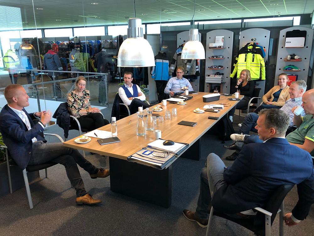 Deelnemers aan de inspiratiebijeenkomst Koploperproject Noardwest Fryslân