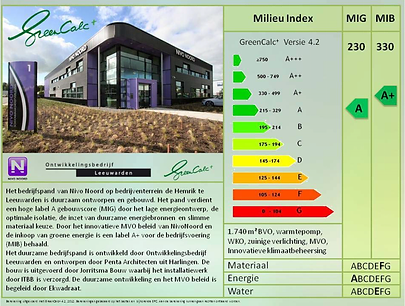 Greencalc+ label van NIVO Noord