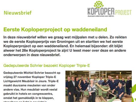 Nieuwsbrief Koploperproject december