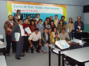 Jaap de Vries with students in Trujillo Peru