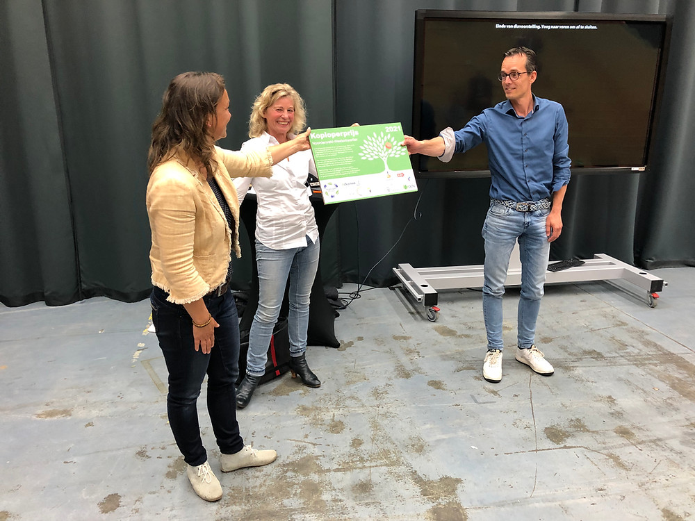 Uitreiking van de Koploperprijs aan Dennis van der Wolde van Dusseldorp