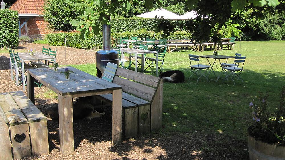 Tuin van Herberg Het Volle Leven in Appelscha