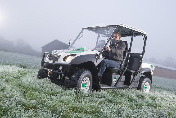 Een van de elektrische voertuigen van Frisian Motors