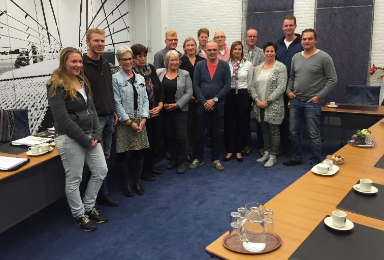Deelnemers aan het Koploperproject Kans in Littenseradiel