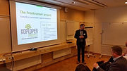 Jaap de Vries presenting the Frontrunner Project at ISO 26000 Conference in Stockholm