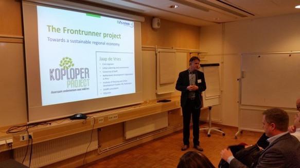 Jaap de Vries presenteert het Frontrunner Project
