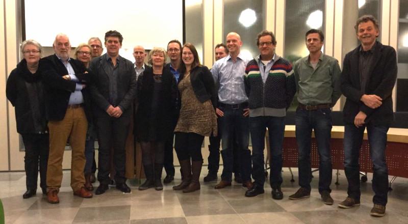 Deelnemers bij de start van het 3e Koploperproject in Ooststellingwerf