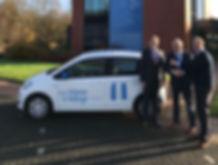 Van Wieren en Vellinga bij de VW EcoUp!