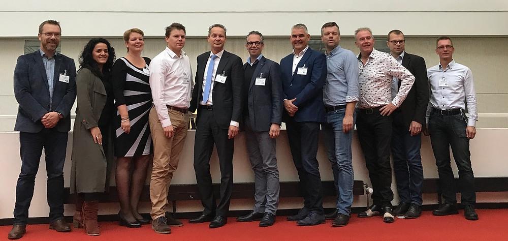 (een deel van) de deelnemers aan het eerste Koploperproject in Assen