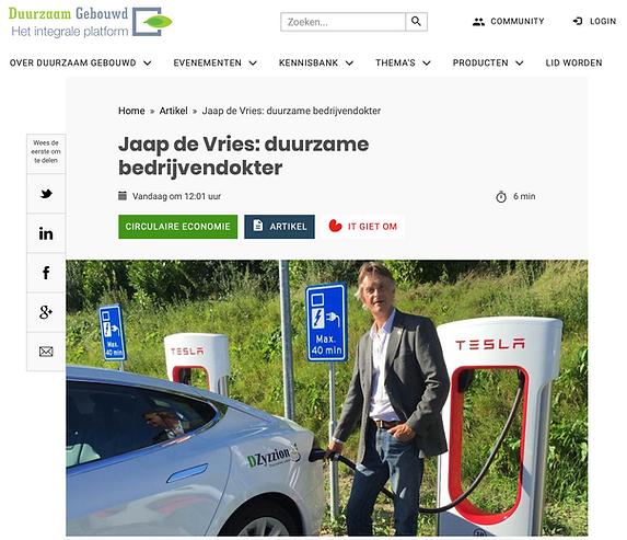 Duurzame bedrijvendokter Jaap de Vries